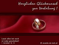 Herzlichen Glückwunsch zur Verlobung! 1. Korinther 16,14 Lasst alles bei euch in Liebe geschehen!