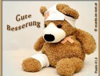 Gute Besserung Psalm 41,4 Der HERR wird ihn erquicken auf seinem Krankenlager; du machst, dass es ihm besser geht, wenn er krank ist.