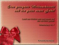 Gesegnete Weihnachtszeit und ein gutes neues Jahr Offenbarung 19, 7 Lasst uns fröhlich sein und jubeln und ihm die Ehre geben!