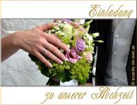 Einladung zu unserer Hochzeit.