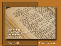 Psalm 119,105 Dein Wort ist meines Fußes Leuchte und ein Licht auf meinem Weg.