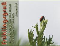 Frühlingsgruß 1. Petrus 5,7 Alle eure Sorge werft auf ihn: denn er sorgt für euch.