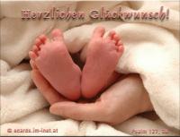 Herzlichen Glückwunsch Psalm 127,3 Siehe, Kinder sind eine Gabe des HERRN.