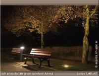 Ich wünsche dir einen schönen Abend. Lukas 1,46+47 - Meine Seele erhebt den Herrn, und mein Geist freut sich über Gott, meinen Retter.