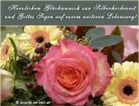 Herzlichen Glückwunsch zur Silberhochzeit und Gottes Segen auf eurem weiteren Lebensweg!